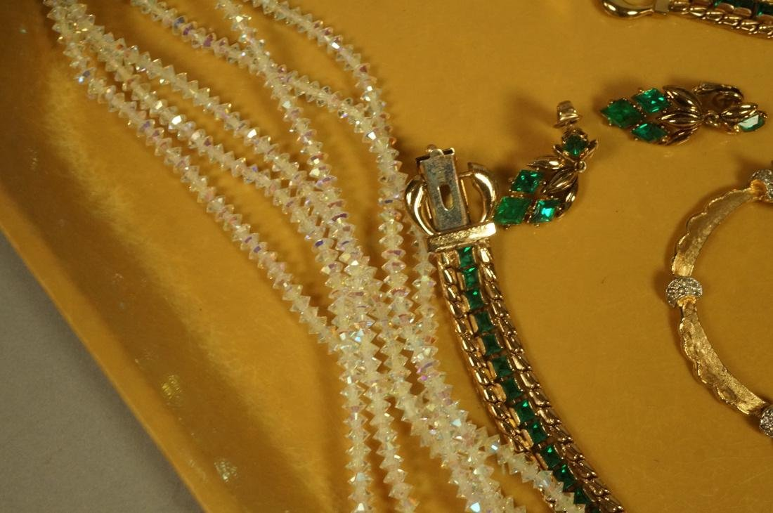 14pc Costume Jewelry Lot. JOMAZ Gold tone & Rhine - 5