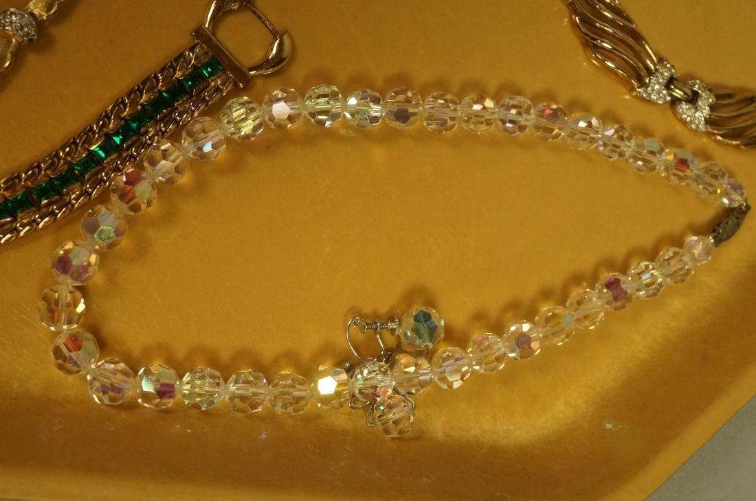 14pc Costume Jewelry Lot. JOMAZ Gold tone & Rhine - 6