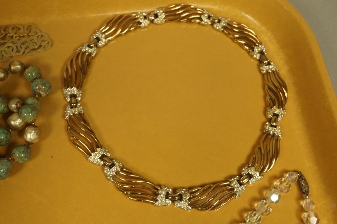 14pc Costume Jewelry Lot. JOMAZ Gold tone & Rhine - 7