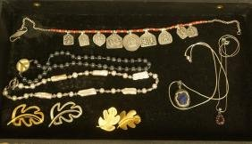 8pc piece Designer Sterling Jewelry. 1) Hematite