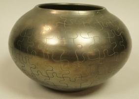 Black Burnished American Indian Pottery Vessel. B