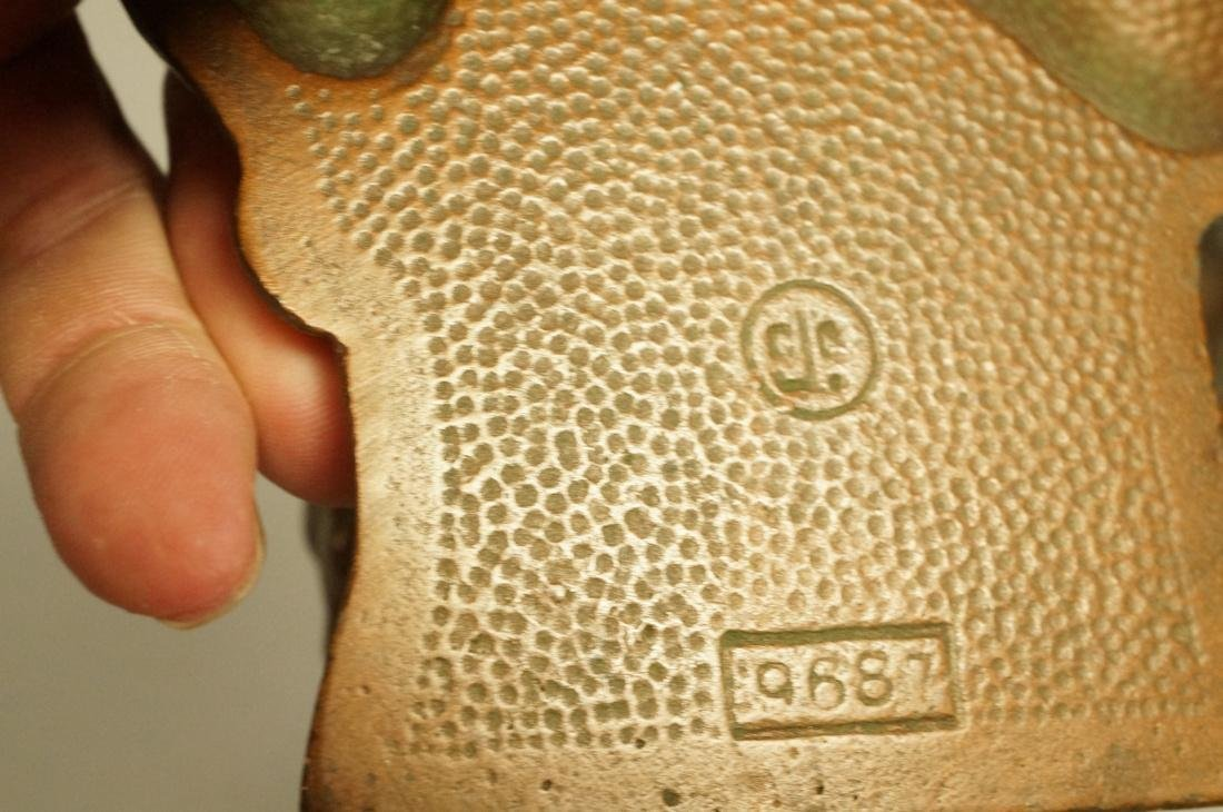 Pr Elephant Bookends. Marked CJO 9687. Iron booke - 3