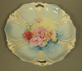 RS PRUSSIA Handled Serving Plate. Art Nouveau bod