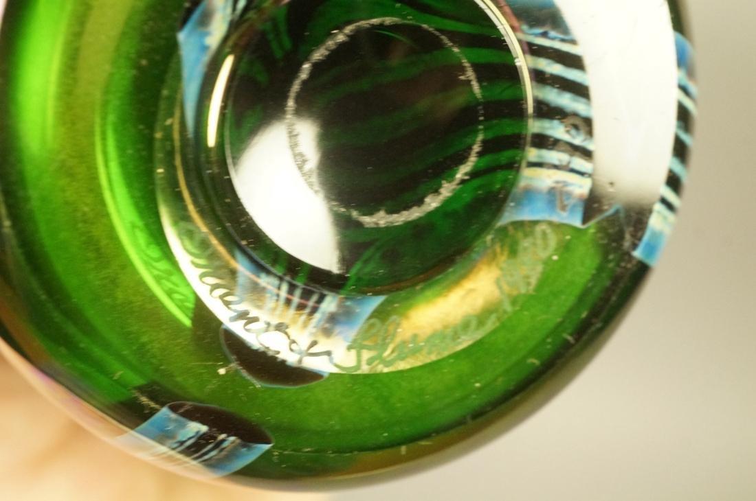 ORIENT & FLUME Art Glass Vase. 1980. Blue & purpl - 4