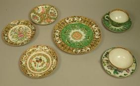 8pc Chinese Export Porcelains. Rose Medallion and