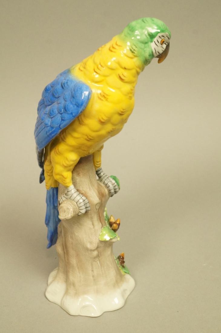 Continental Colorful Ceramic Parrot Figure Sculpt - 2