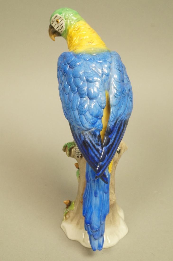 Continental Colorful Ceramic Parrot Figure Sculpt - 3