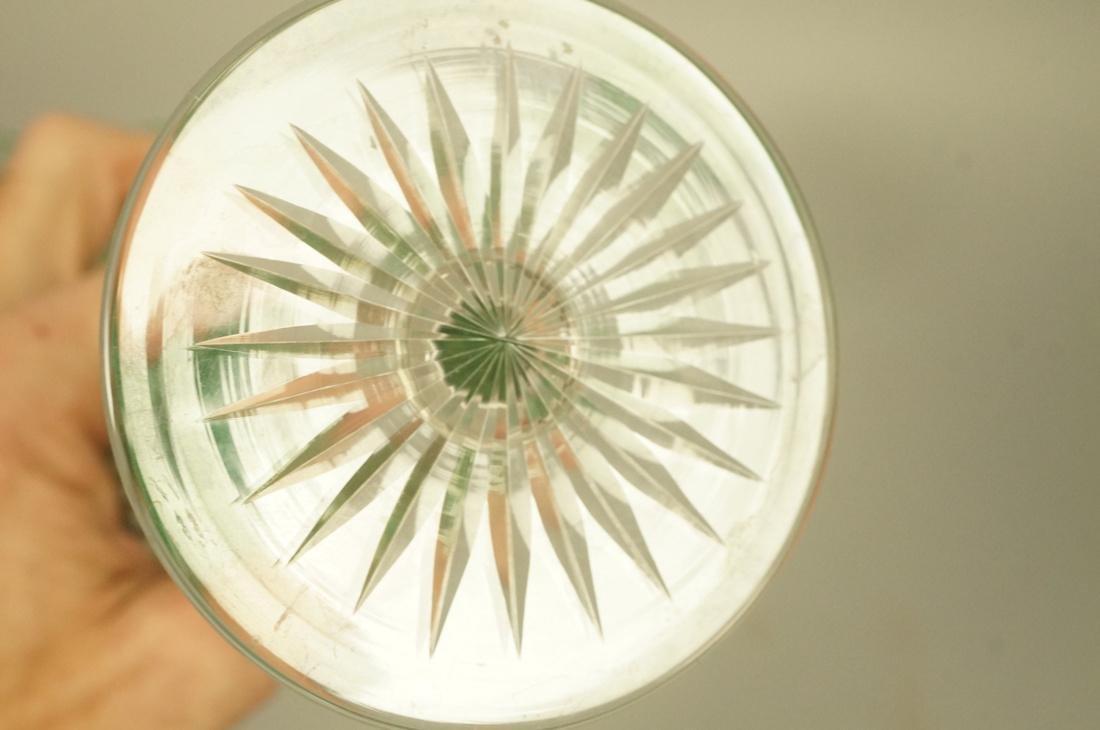23 VAL ST LAMBERT Emerald Green Stemware Glasses. - 5