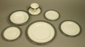 74pc ROYAL DOULTON Dinnerware Set. SHERBROOKE Pat