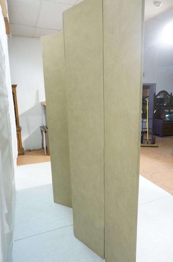 Six Panel Hand Painted Asian Screen Room Divider. - 10