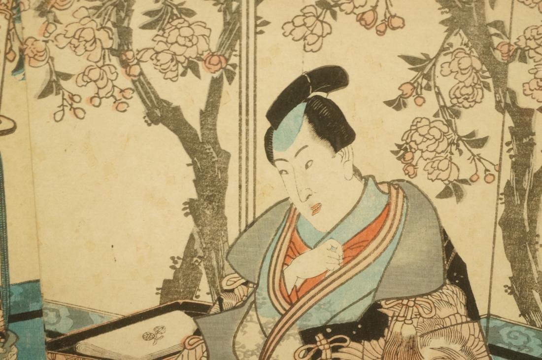 Two part Japanese Woodblock Print. Japanese Geish - 6