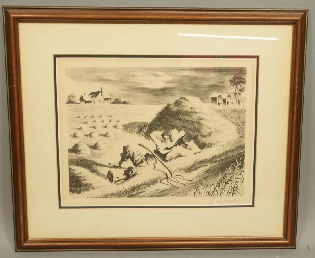 "GEORGES SCHREIBER Original Lithograph. ""Southern"