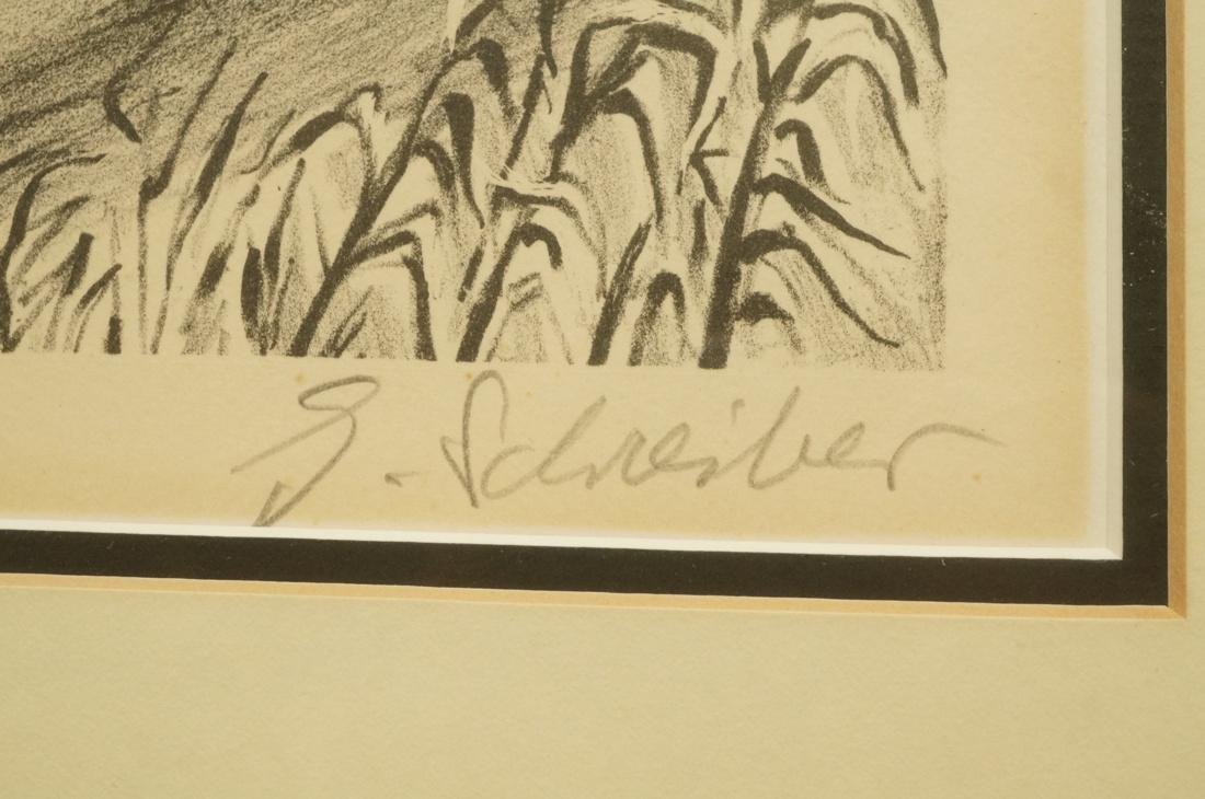 "GEORGES SCHREIBER Original Lithograph. ""Southern - 3"