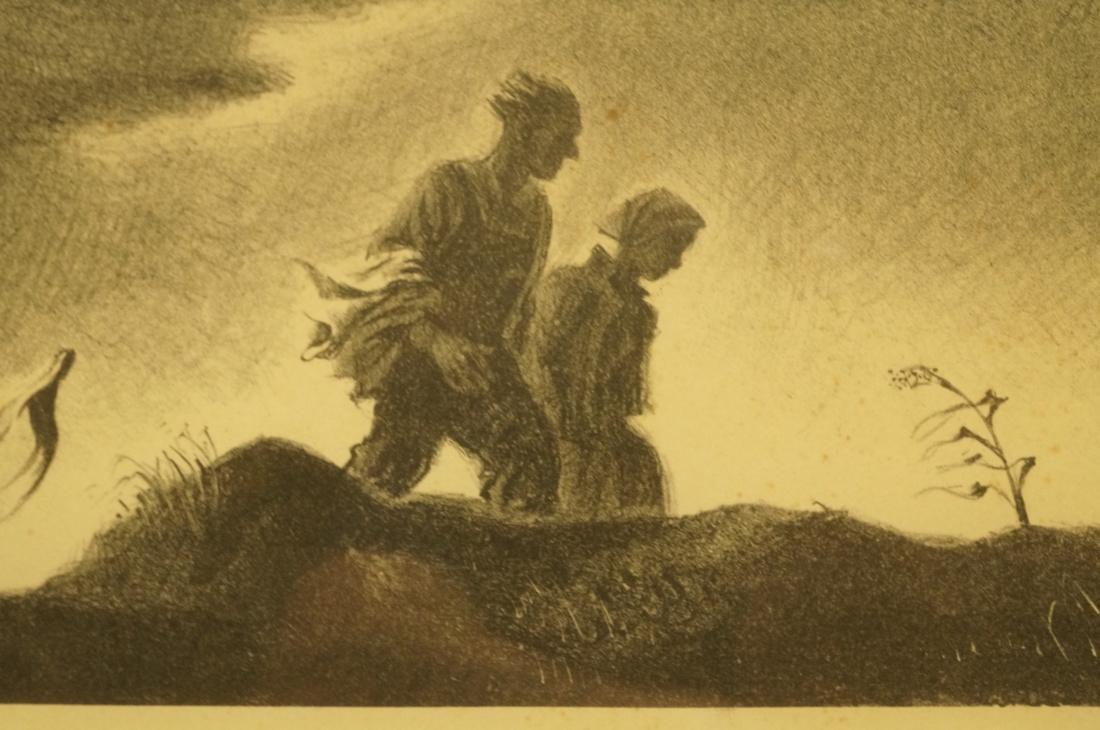 "GEORGES SCHREIBER Original Lithograph. ""Twilight"" - 10"