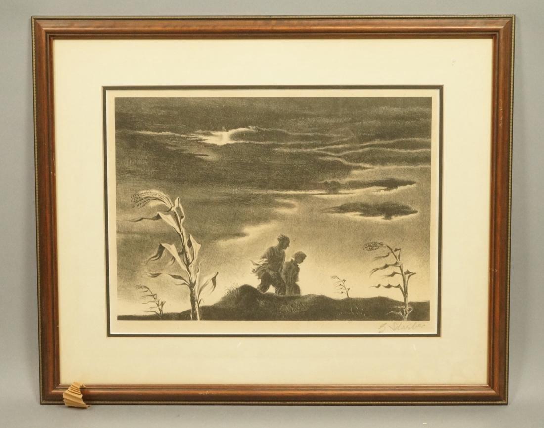 "GEORGES SCHREIBER Original Lithograph. ""Twilight"""