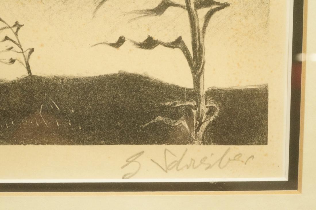 "GEORGES SCHREIBER Original Lithograph. ""Twilight"" - 2"