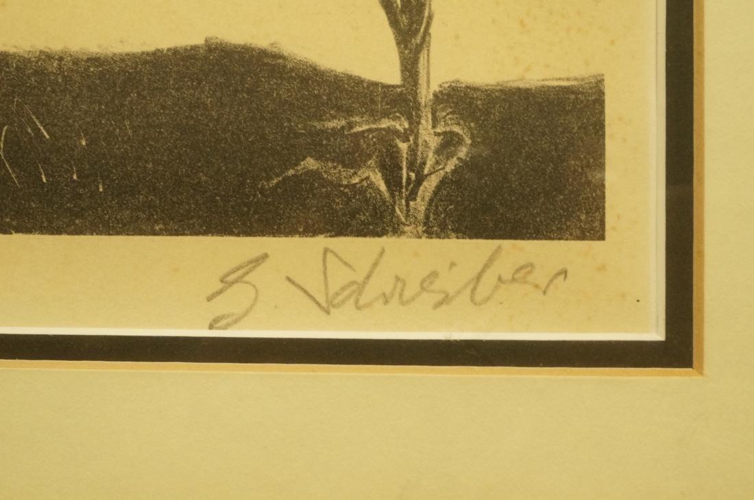 "GEORGES SCHREIBER Original Lithograph. ""Twilight"" - 6"