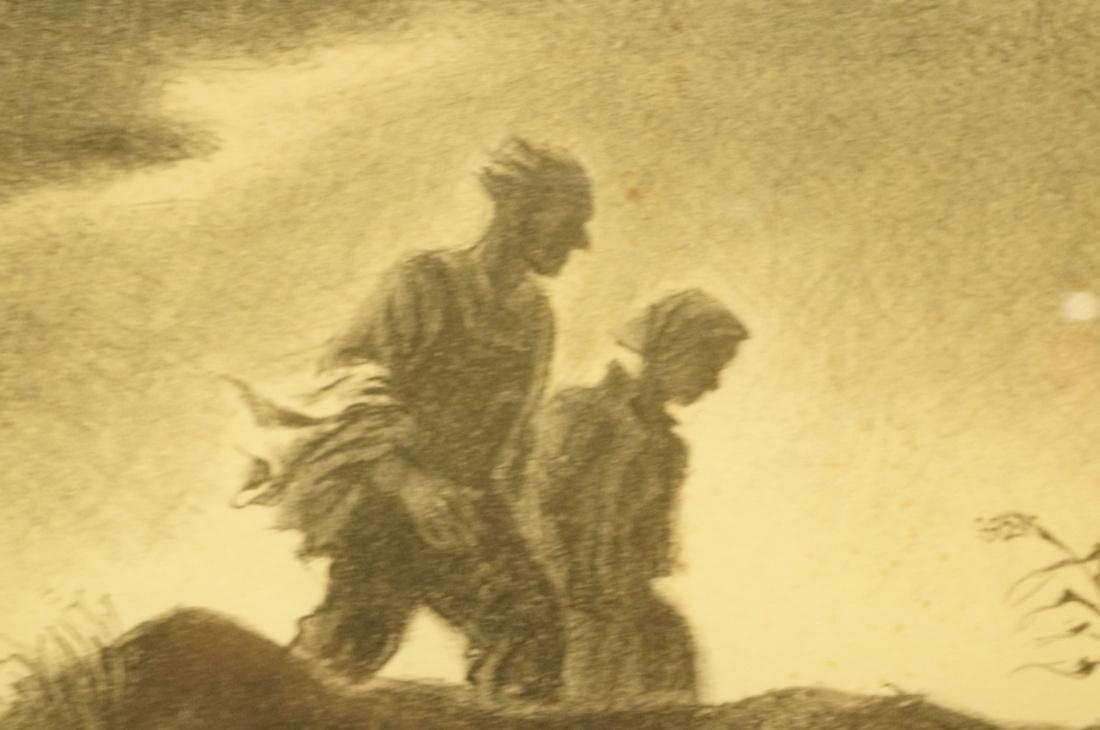 "GEORGES SCHREIBER Original Lithograph. ""Twilight"" - 7"
