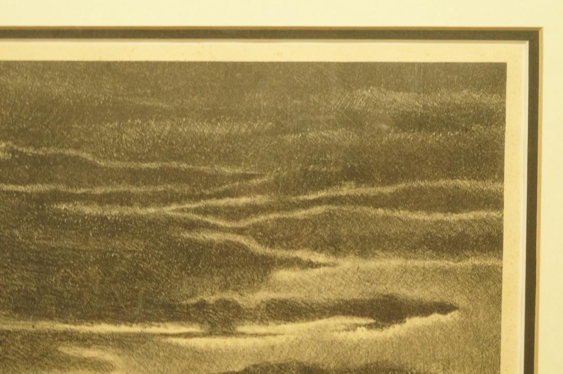 "GEORGES SCHREIBER Original Lithograph. ""Twilight"" - 9"