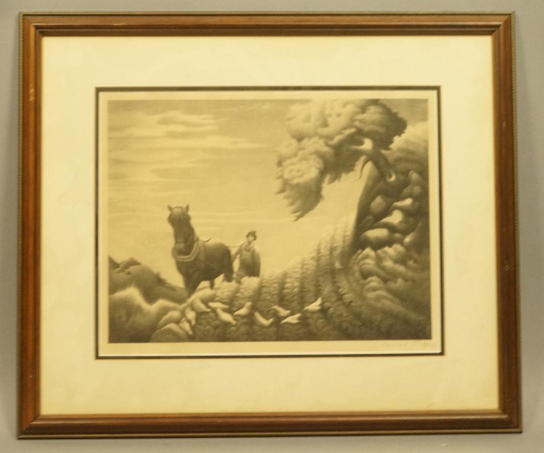 """BERNARD STEFFEN Original Lithograph. """"Upland"""".  M"""