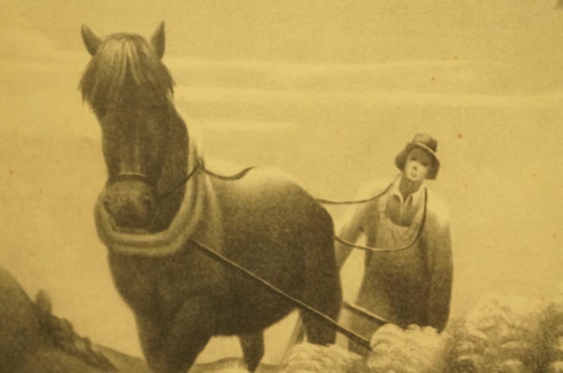 """BERNARD STEFFEN Original Lithograph. """"Upland"""".  M - 4"""