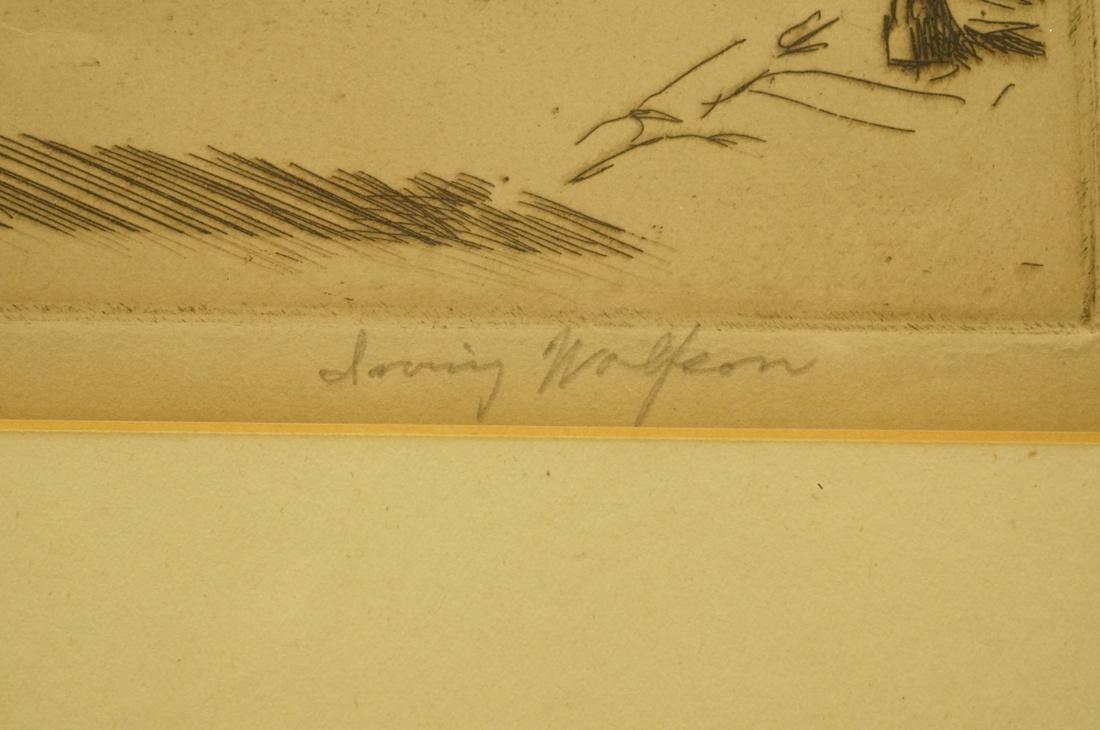 "IRVING WOLFSON Etching  Print. ""John Street New Y - 3"