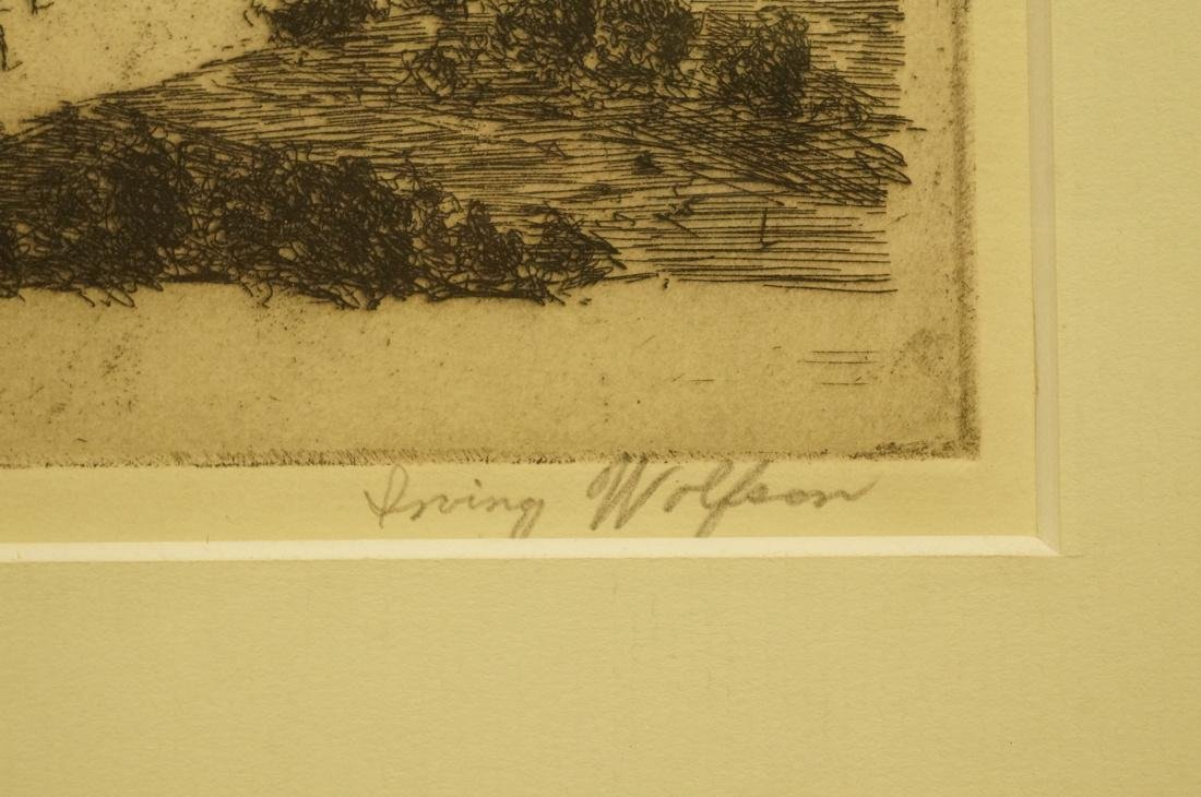 IRVING WOLFSON Etching   Print. Post Office New Y - 3