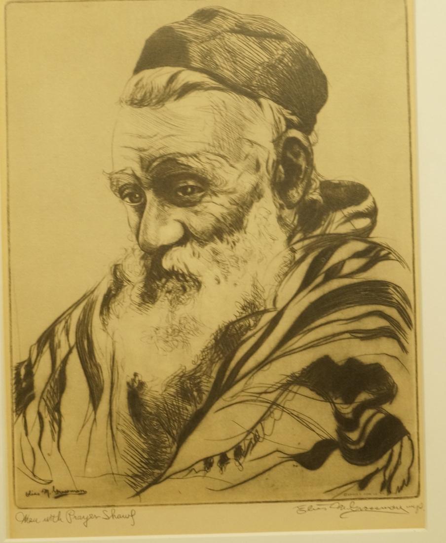 "ELIAS GROSSMAN  Lithograph Print. ""Man with Praye"