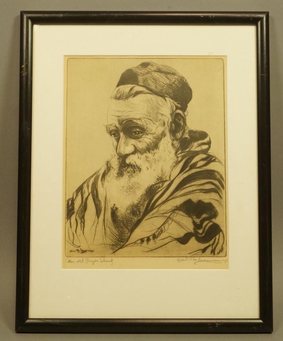 "ELIAS GROSSMAN  Lithograph Print. ""Man with Praye - 2"