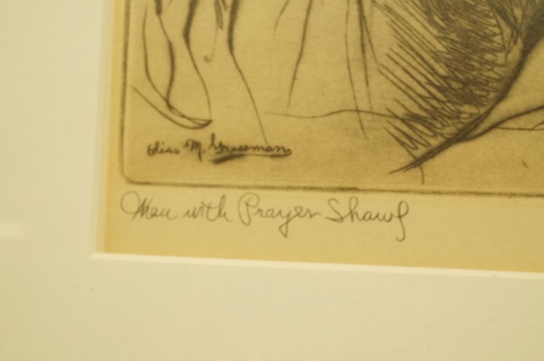 "ELIAS GROSSMAN  Lithograph Print. ""Man with Praye - 3"