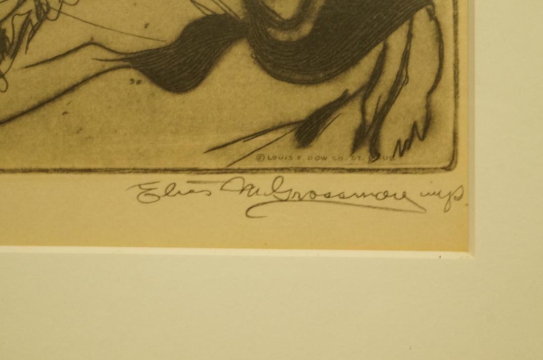 "ELIAS GROSSMAN  Lithograph Print. ""Man with Praye - 4"
