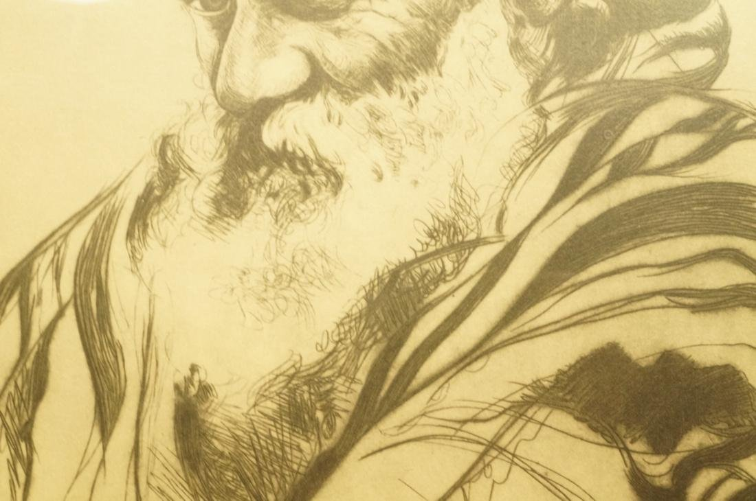 "ELIAS GROSSMAN  Lithograph Print. ""Man with Praye - 5"