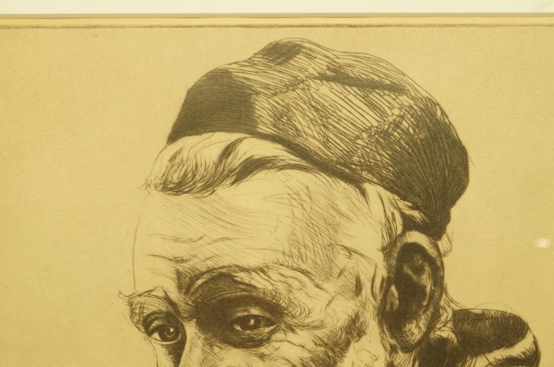 "ELIAS GROSSMAN  Lithograph Print. ""Man with Praye - 6"