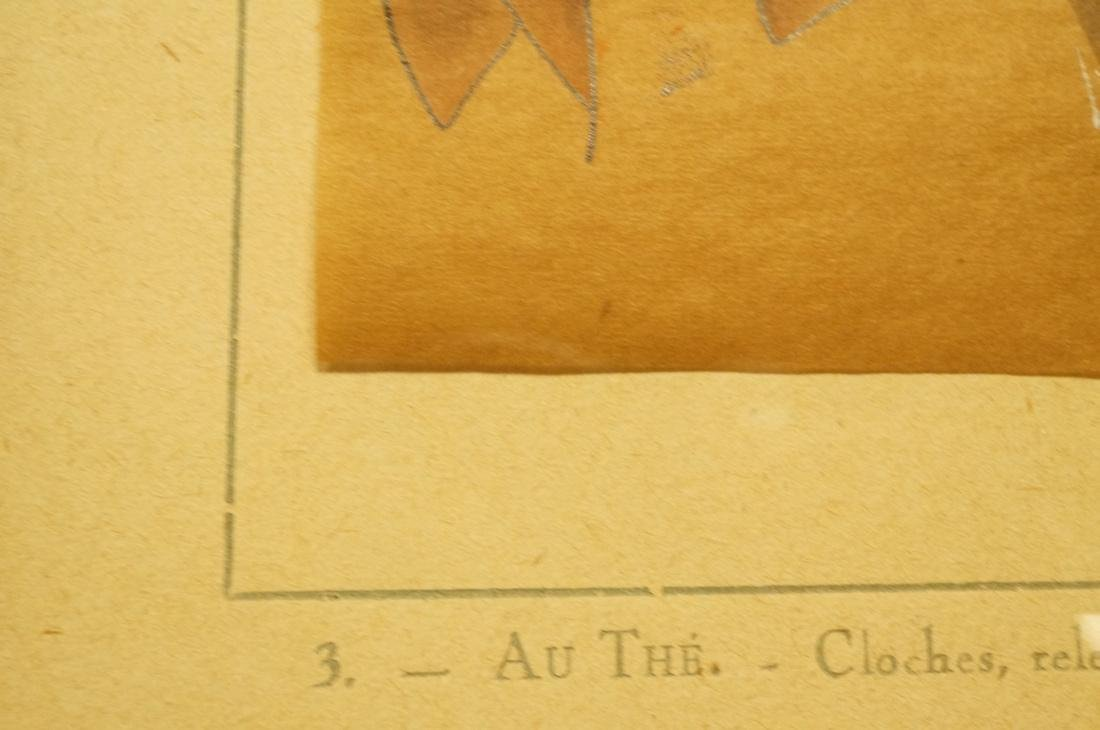 """Pr Chapeau Hat French Hand Colored Drawings. """"Les - 5"""