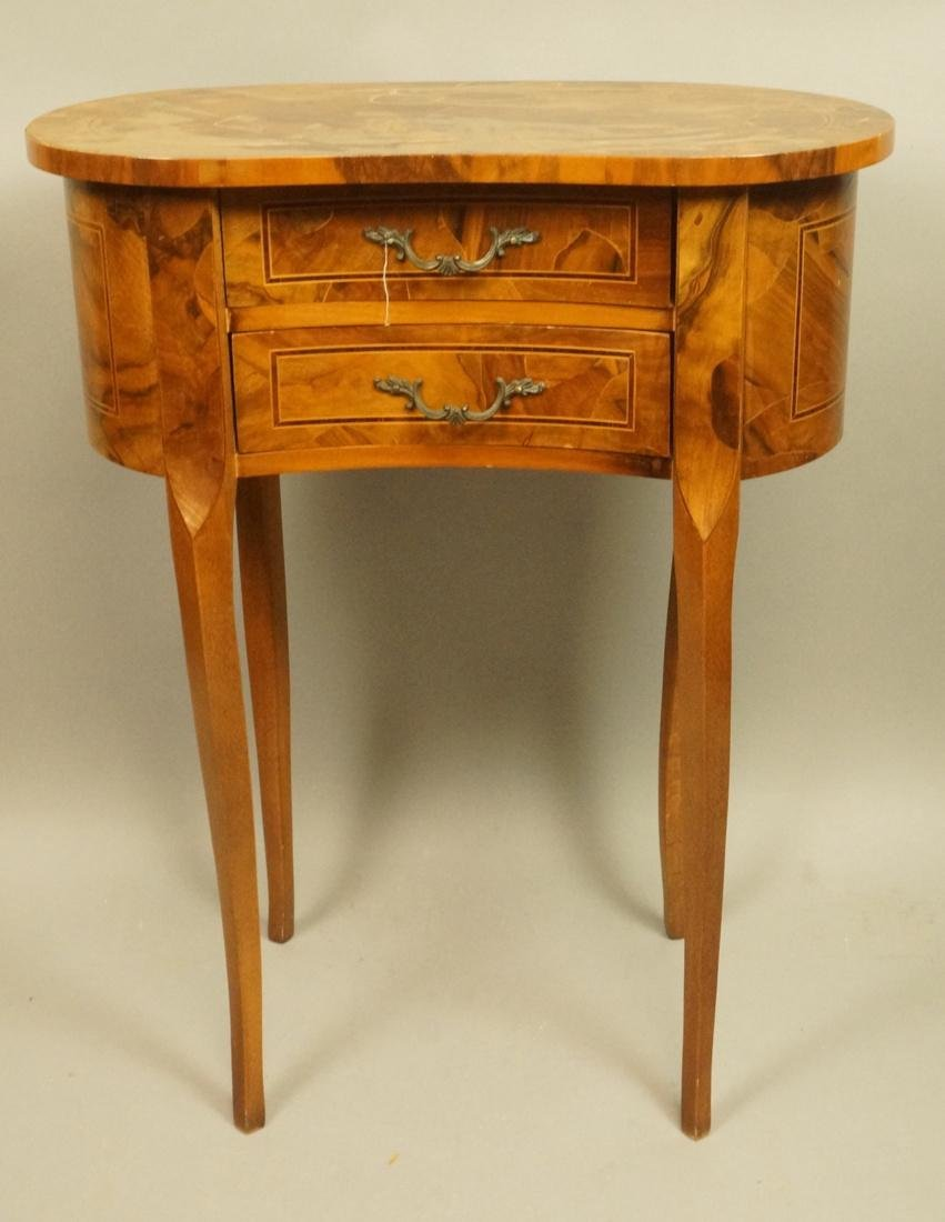 Small French style Olive wood  two drawer Stand.