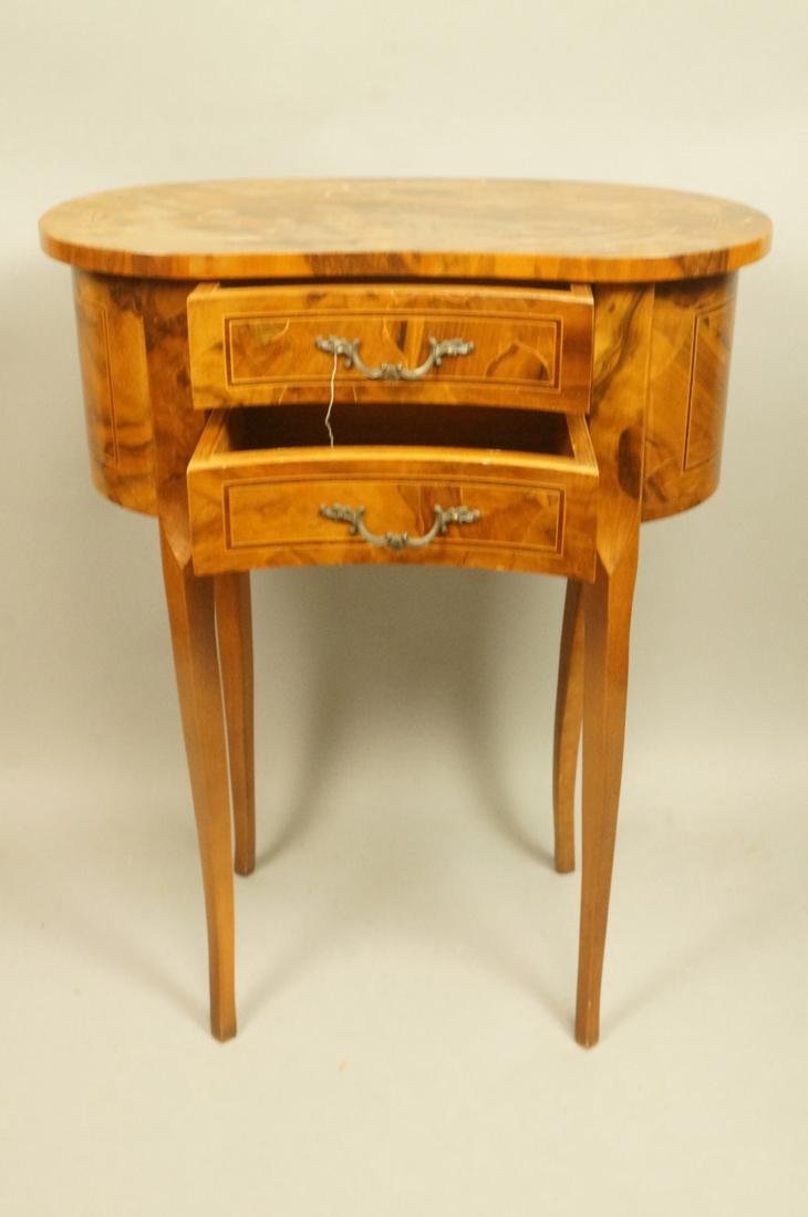 Small French style Olive wood  two drawer Stand. - 2