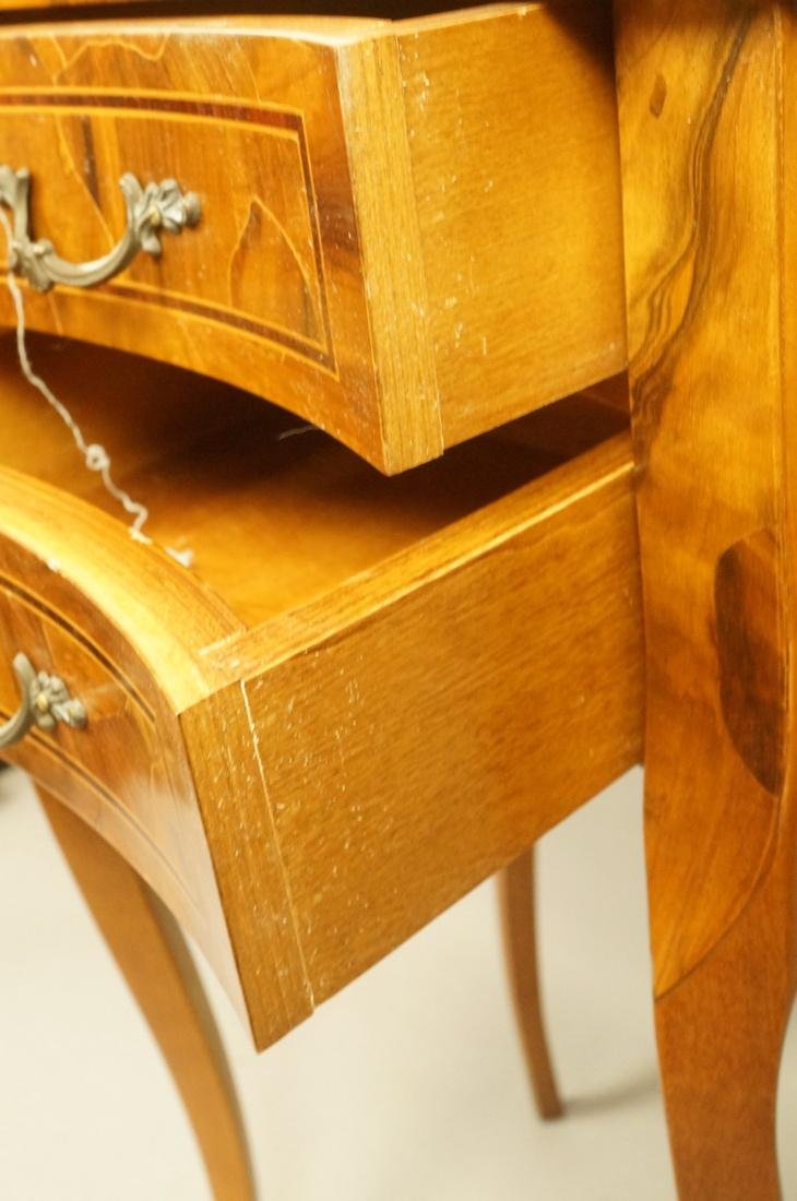 Small French style Olive wood  two drawer Stand. - 3