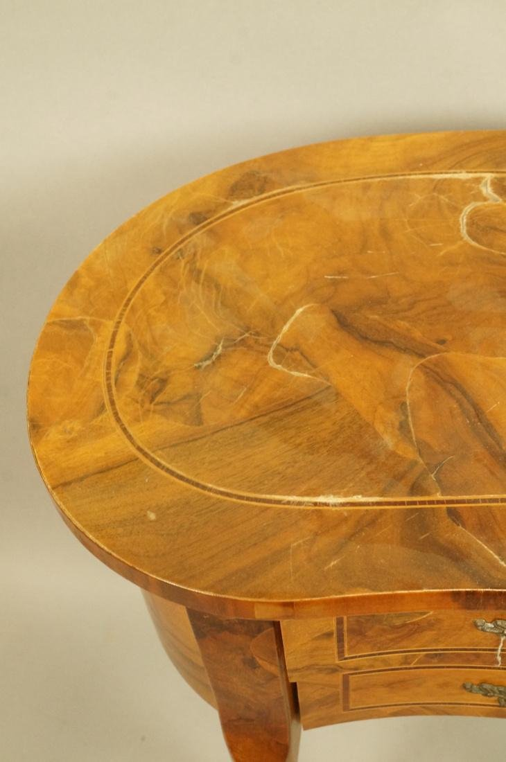 Small French style Olive wood  two drawer Stand. - 4