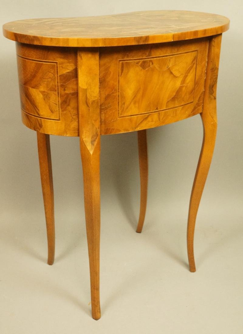 Small French style Olive wood  two drawer Stand. - 7