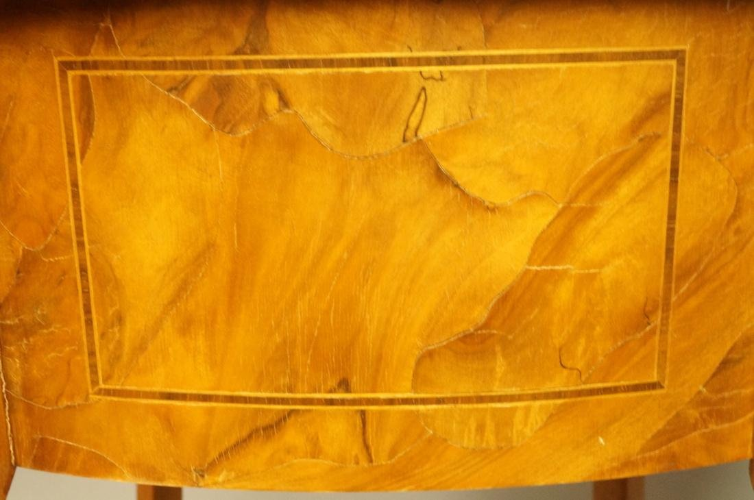 Small French style Olive wood  two drawer Stand. - 9
