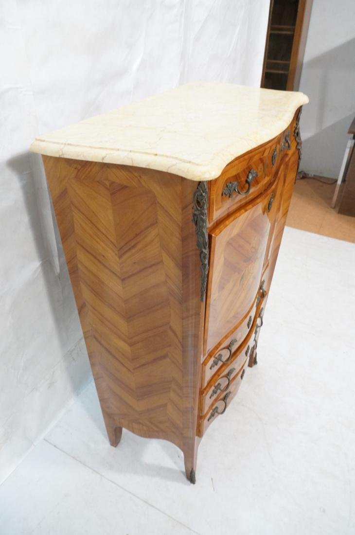 Tall French style Floral Inlay Drop Desk Abatante - 3