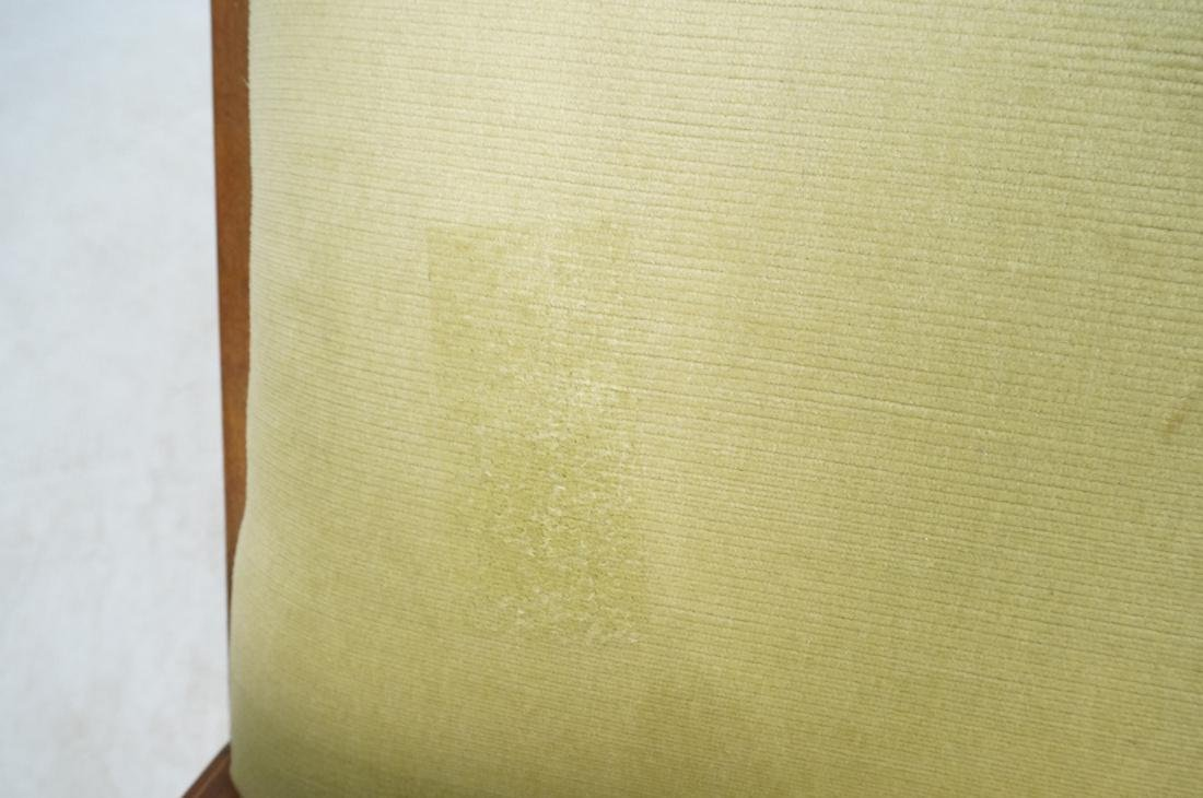 Inlaid Love Seat Bench. Decorative harp detail to - 10