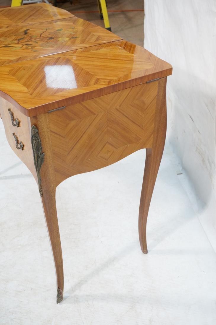 Flip top Antique Wood Vanity. Raised on long legs - 6