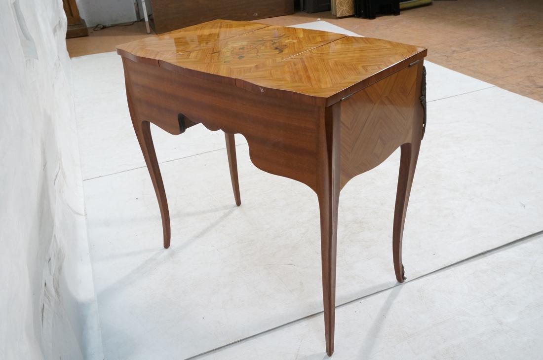 Flip top Antique Wood Vanity. Raised on long legs - 9