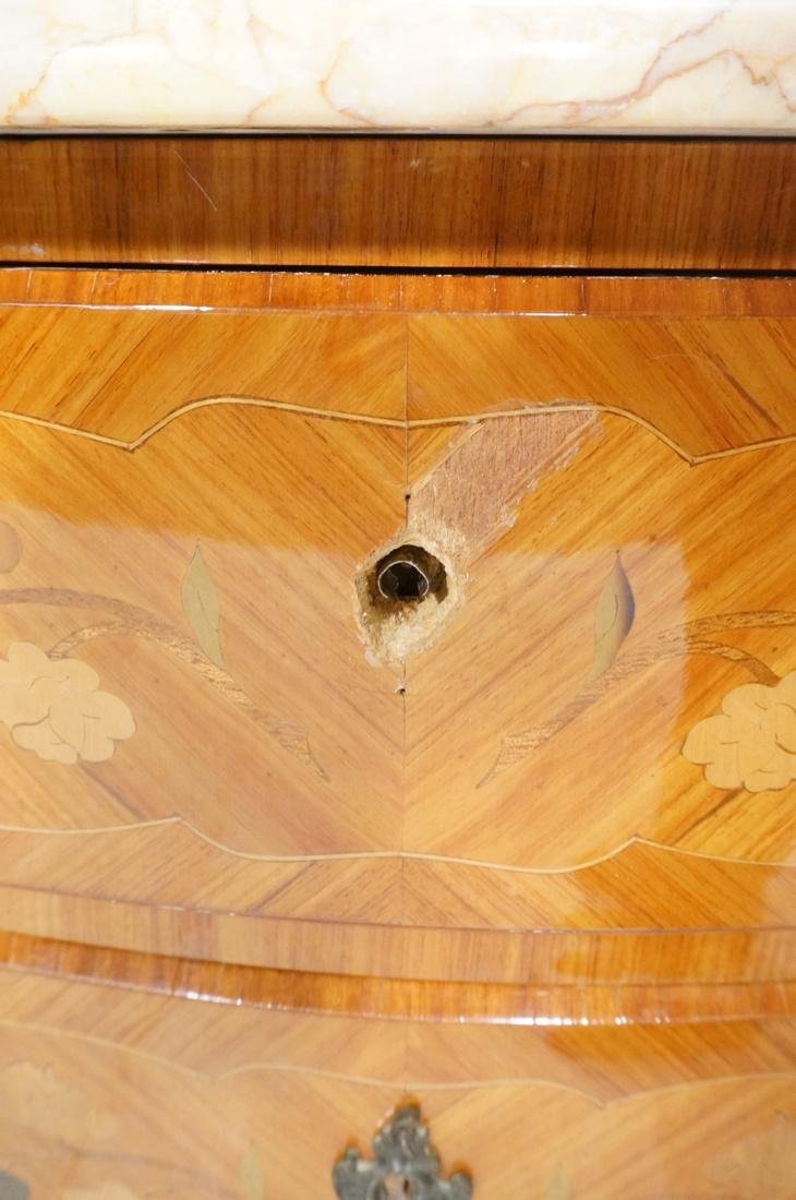 French style Marble Top Commode Chest. Inlaid woo - 9