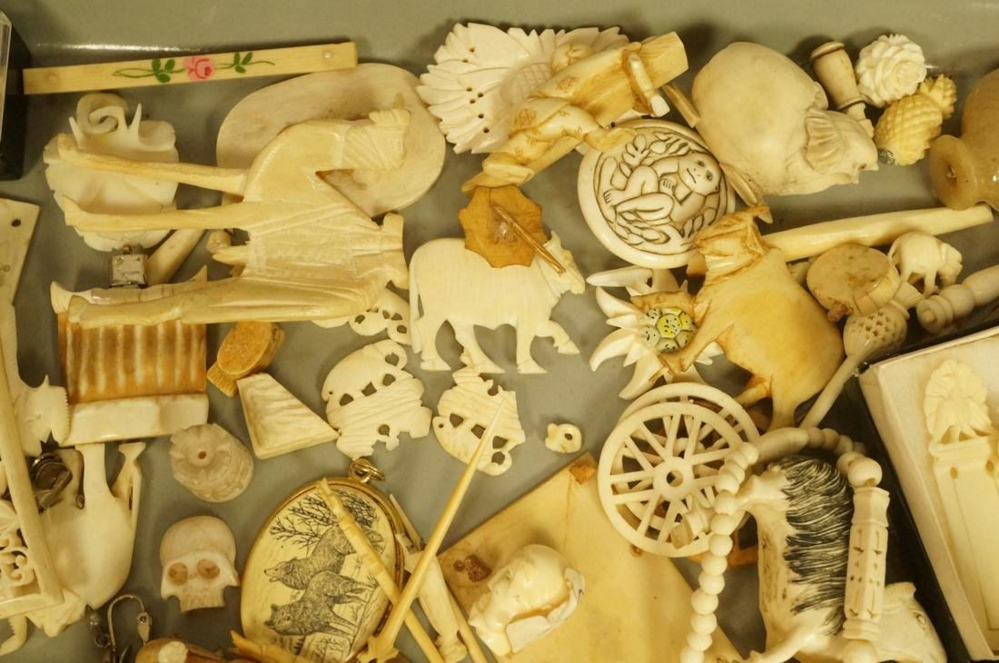 Large Lot Carved Natural material Items. At least - 8