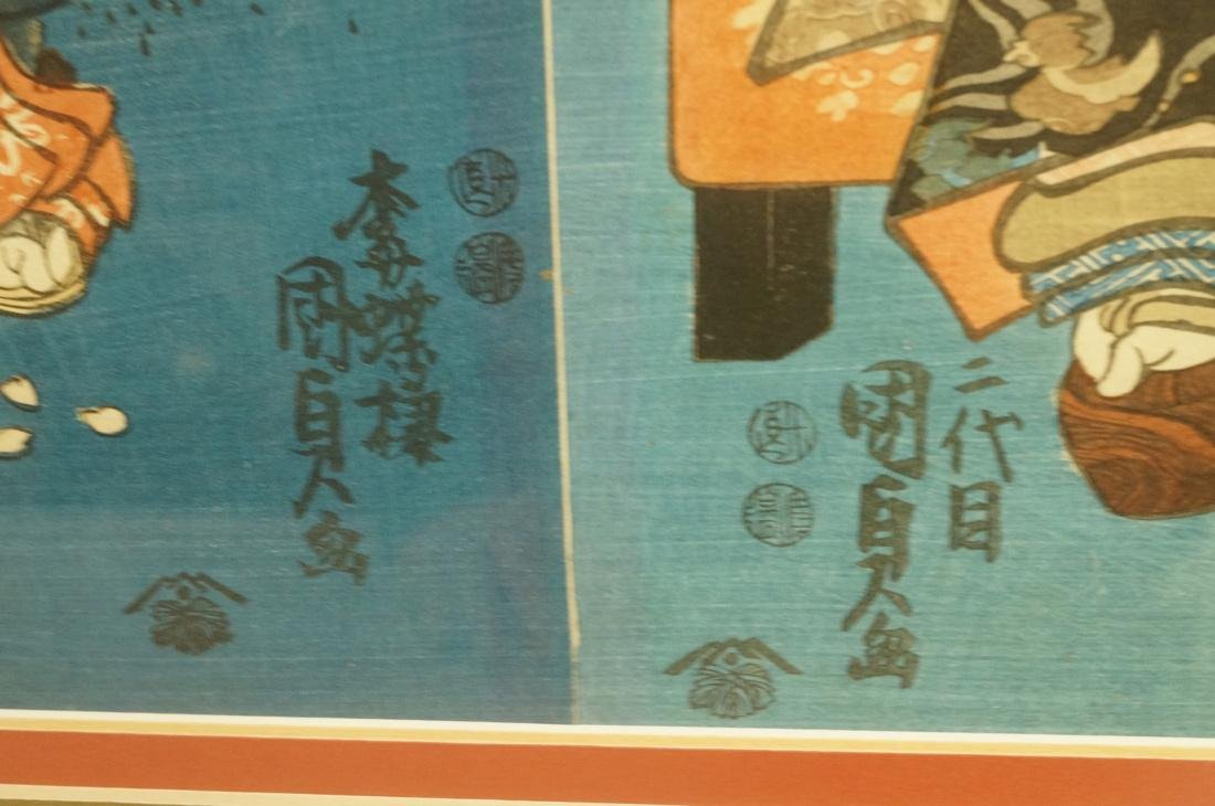Set 3 Signed Chinese Watercolors. Young women in - 5