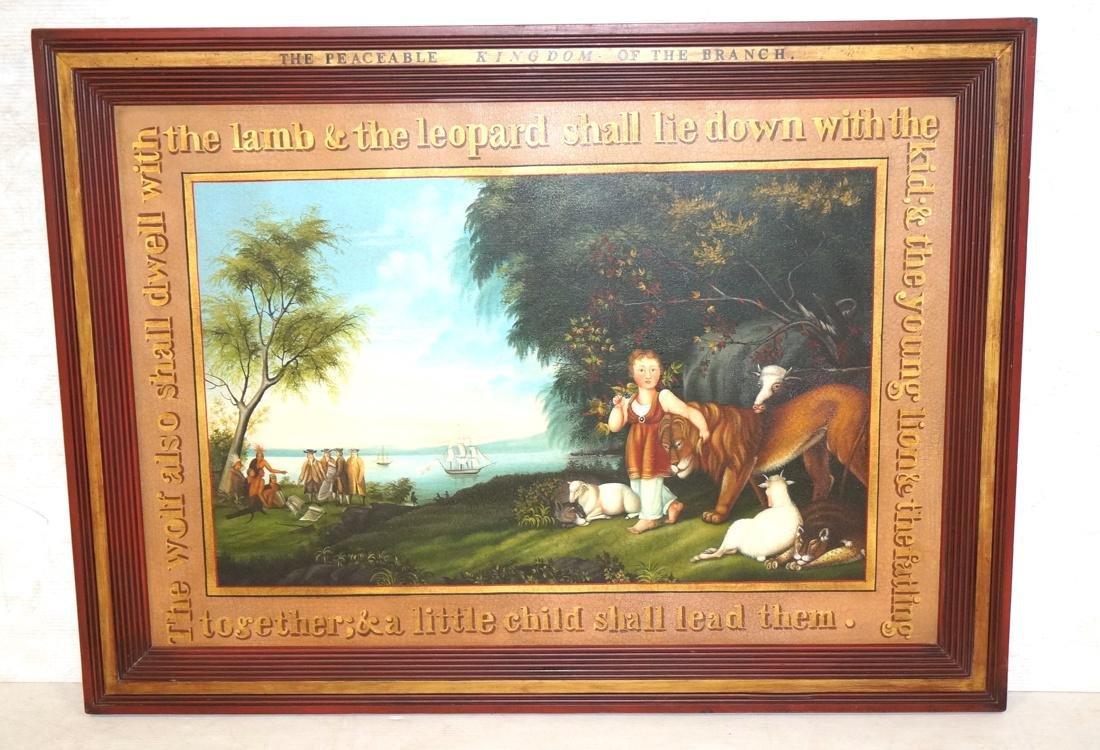 DAVID GUILMET Peaceable Kingdom Oil on Canvas Pai