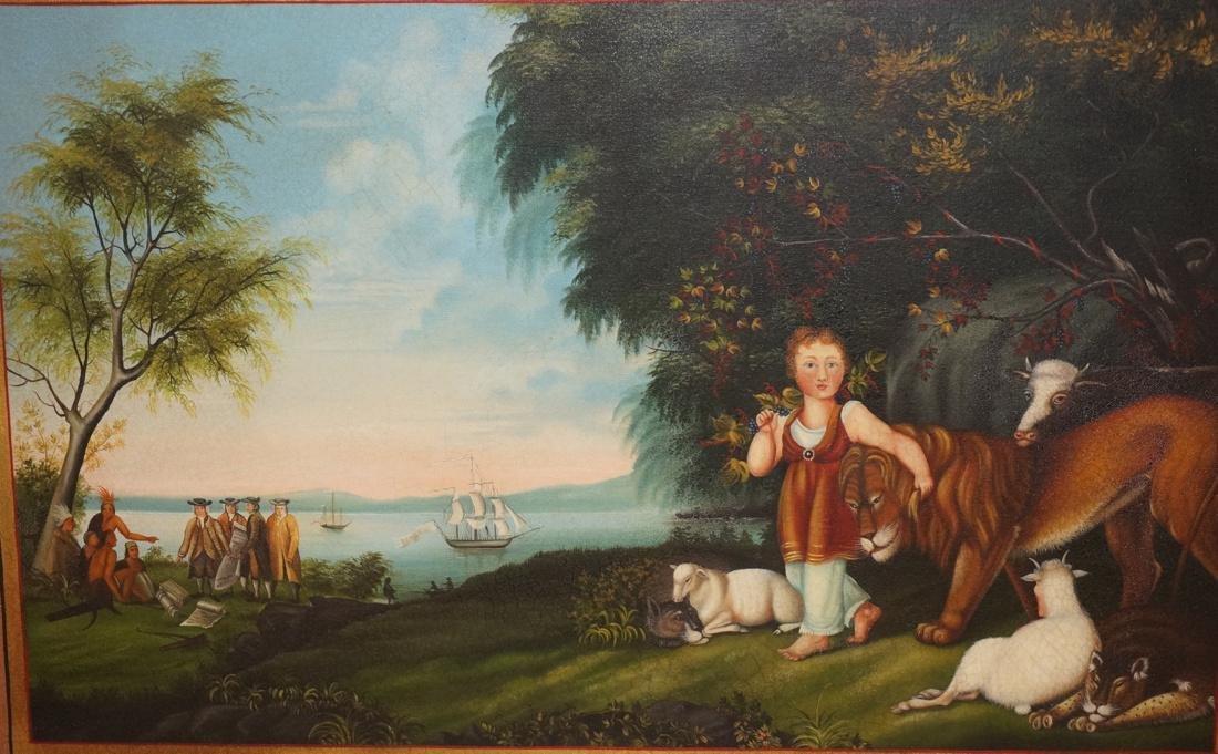 DAVID GUILMET Peaceable Kingdom Oil on Canvas Pai - 2