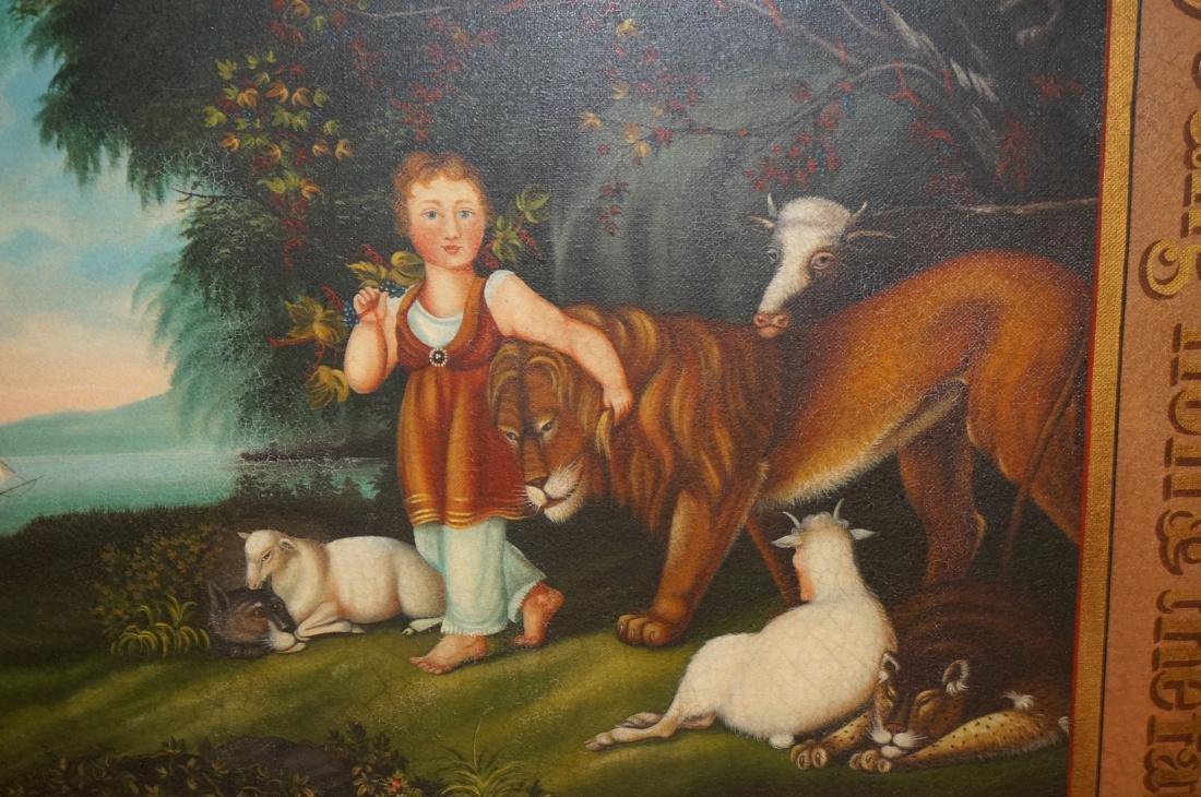 DAVID GUILMET Peaceable Kingdom Oil on Canvas Pai - 3